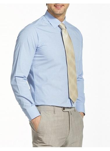 Bisse GM19Y91195 Regular Fit Desenli Klasik Gömlek Mavi